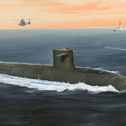 French Navy Le Triomphant SSBN (1:350)