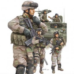 Люди Modern U.S. Army Armor Crewman & Infant