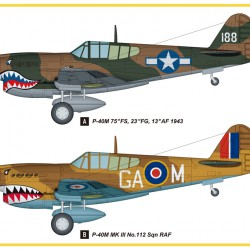 Самолет P-40E Kitty Hawk Fighter