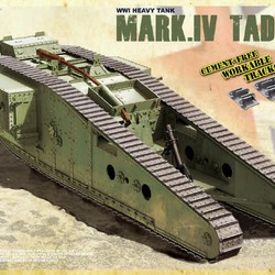 Английский танк Mark IV Tadpole (Male) с мортирой на корме