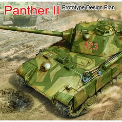 Немецкий танк Panther II Prototype Design Plan
