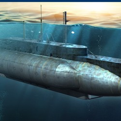 Британская подводная лодка British HMS X Craft Submarine