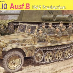 Germany Sd.Kfz.10 Ausf.B Semi-clog belts 1940 Production type