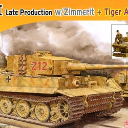 Pz.Kpfw.VI Ausf.E Tiger I Late Production w/Zimmerit + Tiger Aces