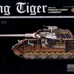 Танк King Tiger Sd.Kfz 182 Porsche Turret w/Zimmerit