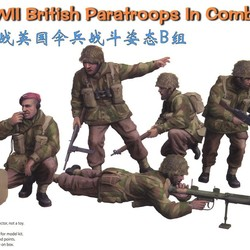 Солдаты WWII British Paratroops In Combat Set B