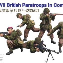 Солдаты WWII British Paratroops In Combat Set A