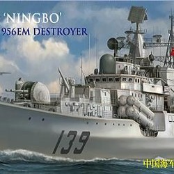 Китайский корабль Chinese Navy DDG 139 Ningbo Sovremenniy Class Type 956EM Destroyer