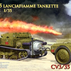 Танкетка Italy CV3/35Lf Small Tank With Fire Radiation Tipe Trailer