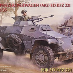Немецкий бронеавтомобиль Sd.kfz221 Light Bren Carrier Equipped with 4x4 Machine Gun