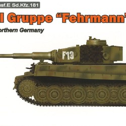 Немецкий танк Тигр - Tiger I Gruppe Fehrmann April 1945 Northern Germany